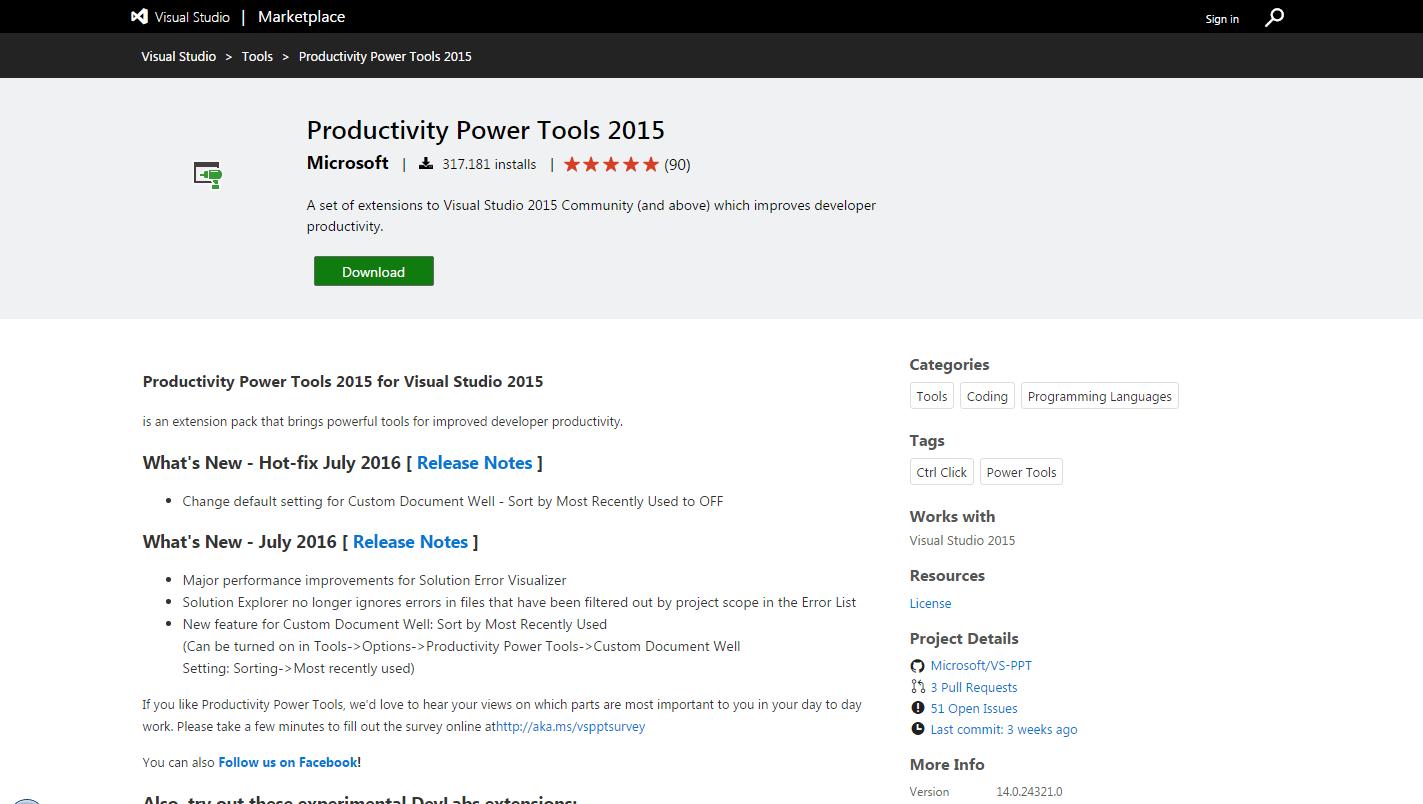 Visual Studio Productivity Tools - 9 Ferramentas de Produtividade Gratuitas que Todo Desenvolvedor Web Deveria Usar