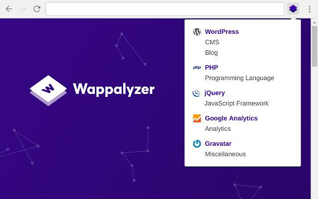 Wappalyzer - 12 Chrome Extensions para Desenvolvedores Web